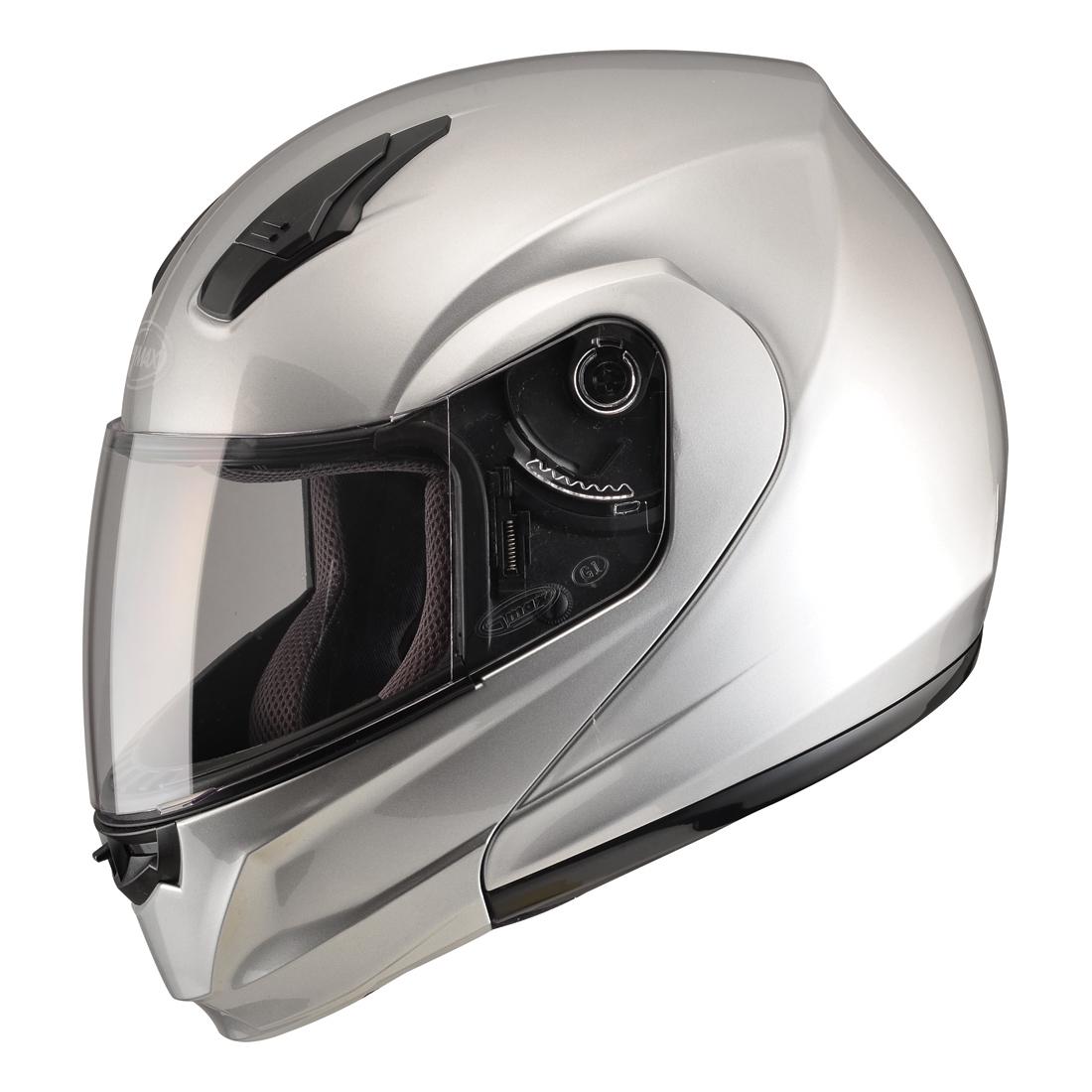 GMAX MD04 Metallic Silver Modular Helmet