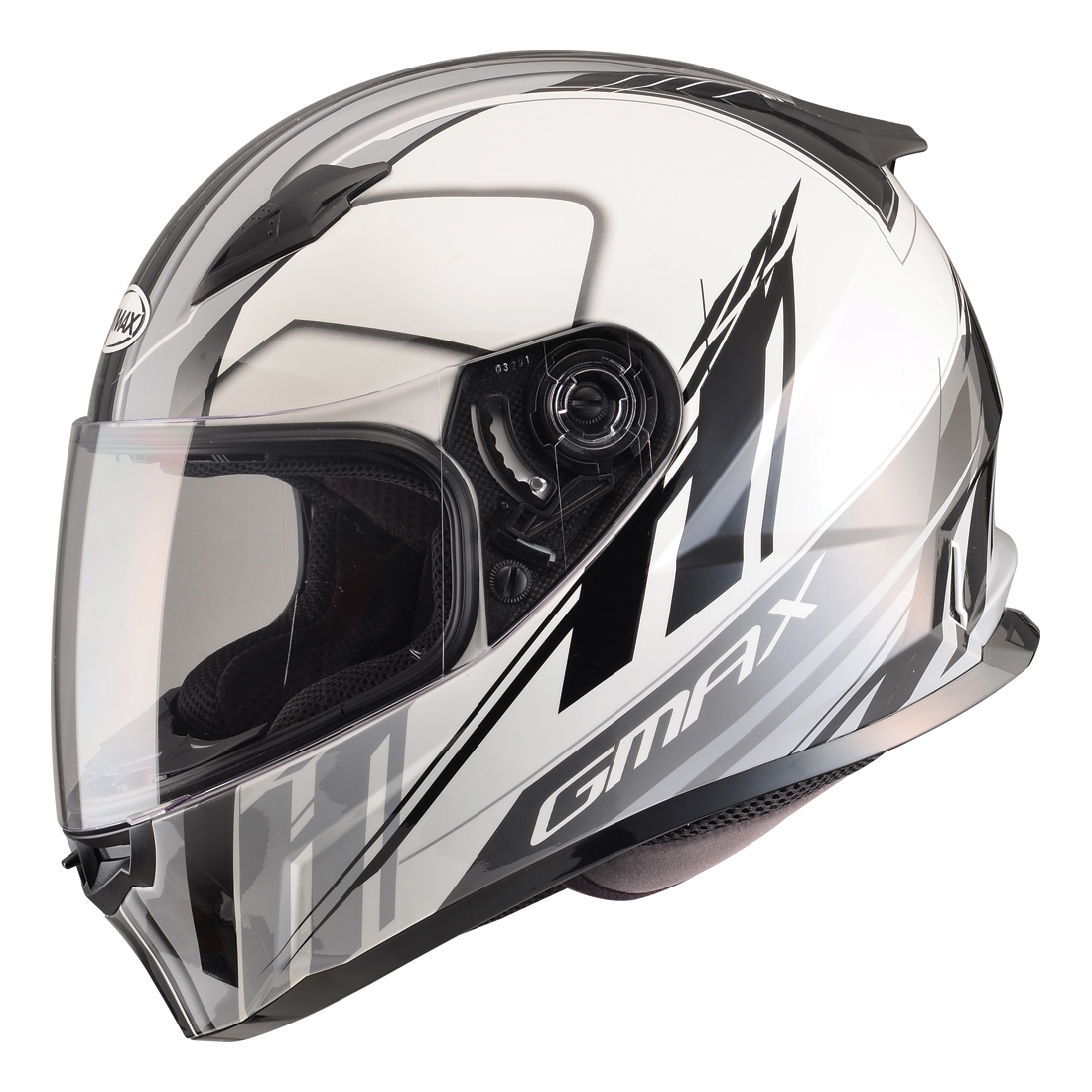 GMAX FF49 Rogue White/Black Full Face Helmet