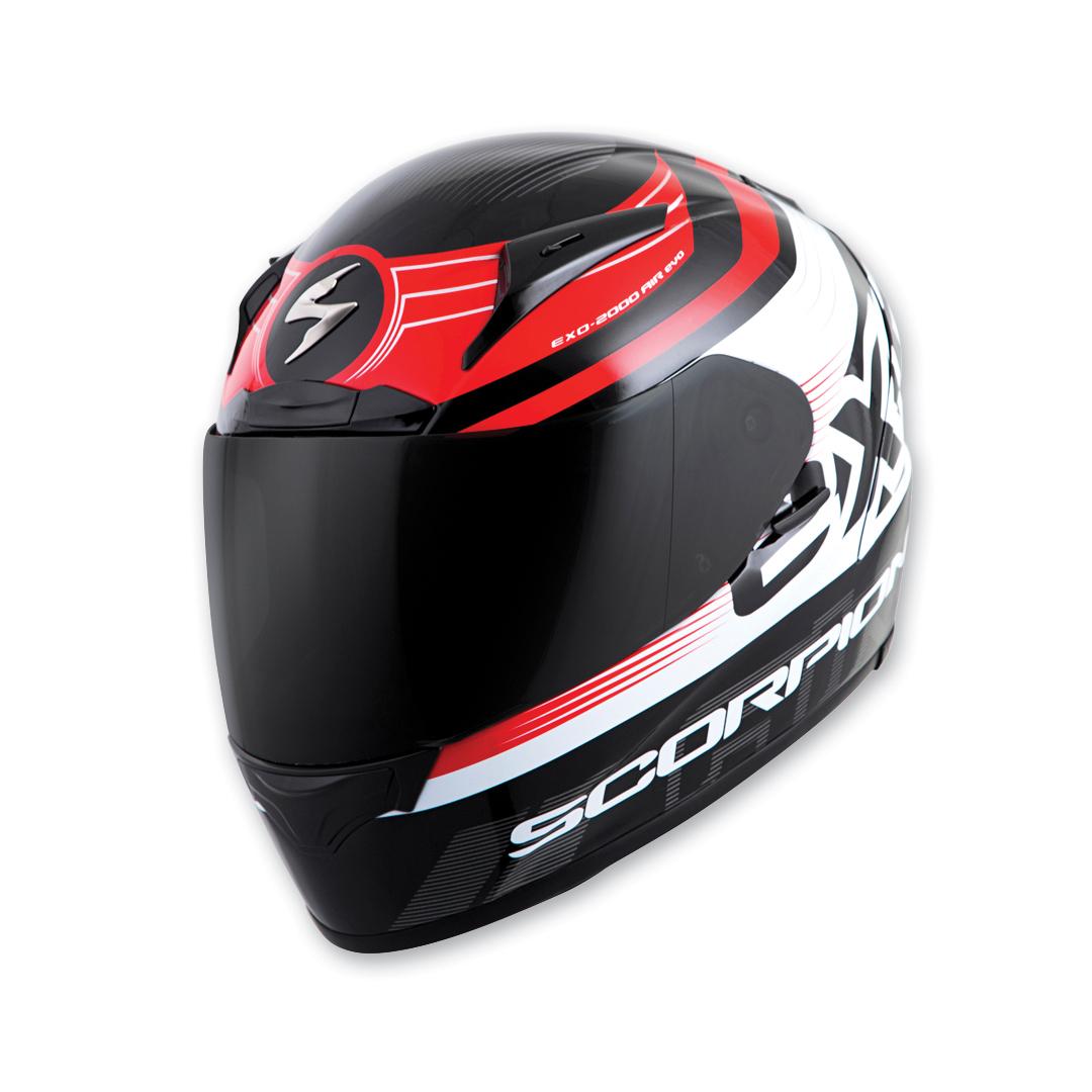 Scorpion EXO EXO-R2000 Fortis Black/Red Full Face Helmet