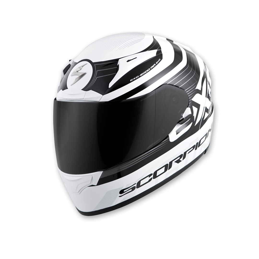 Scorpion EXO EXO-R2000 White/Black Fortis Full Face Helmet