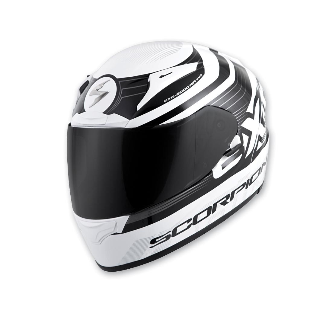 Scorpion EXO EXO-R2000 White/Black Fortis Full Face Helmet