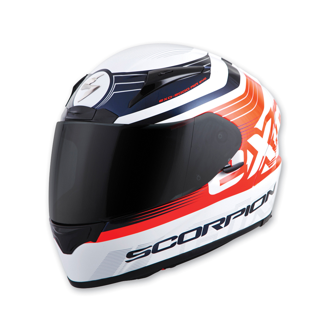 Scorpion EXO EXO-R2000 Fortis White/Orange Full Face Helmet