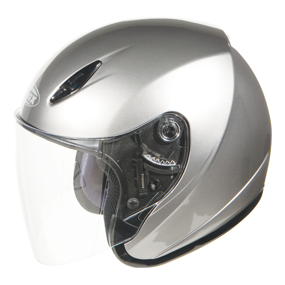 GMAX GM17 Dark Silver Metallic Open Face Helmet