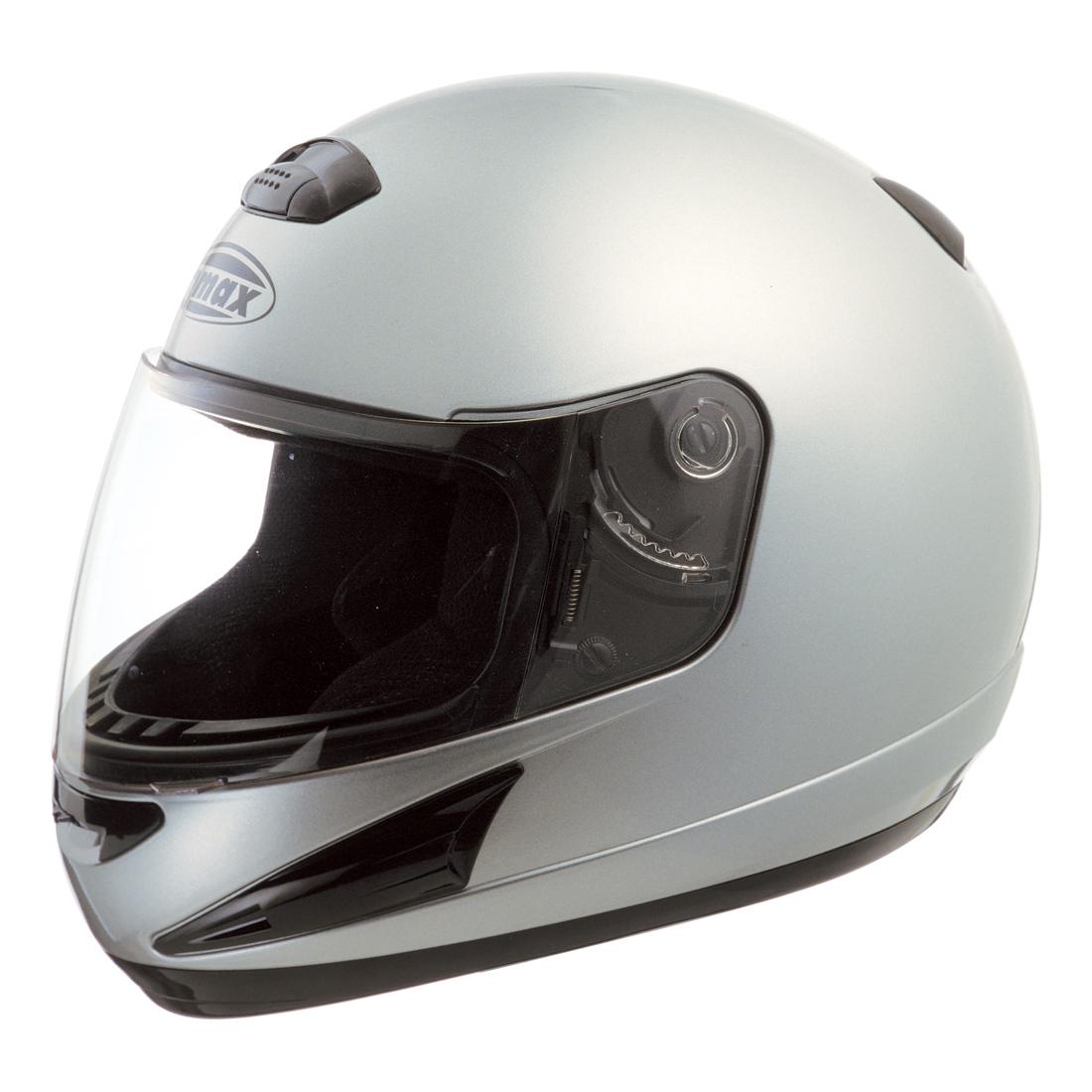 GMAX GM38 Dark Metallic Silver Full Face Helmet
