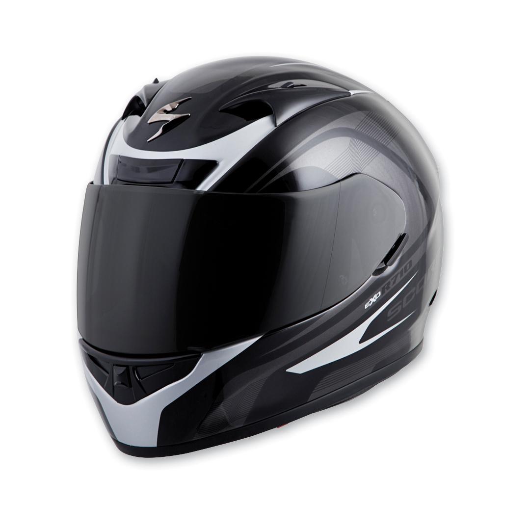 Scorpion EXO EXO-R710 Focus Silver Full Face Helmet