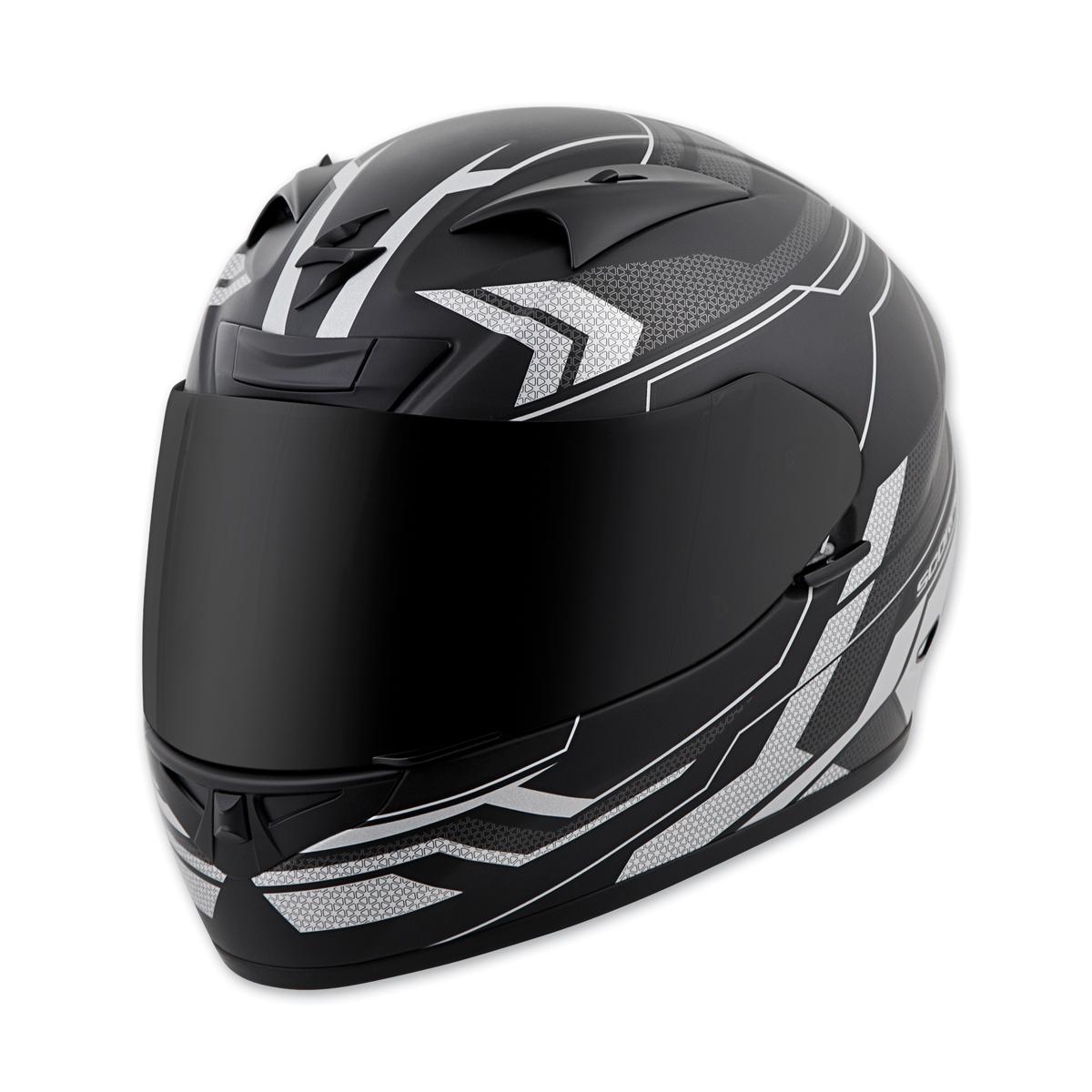 Scorpion EXO EXO-R710 Transect Silver Full Face Helmet