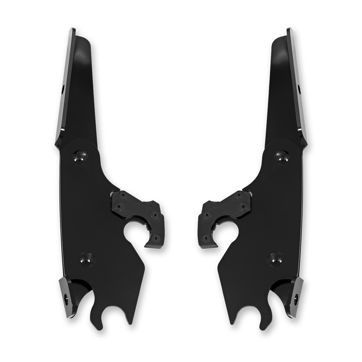 Memphis Shades Batwing Fairing Black Mounting Plates Only