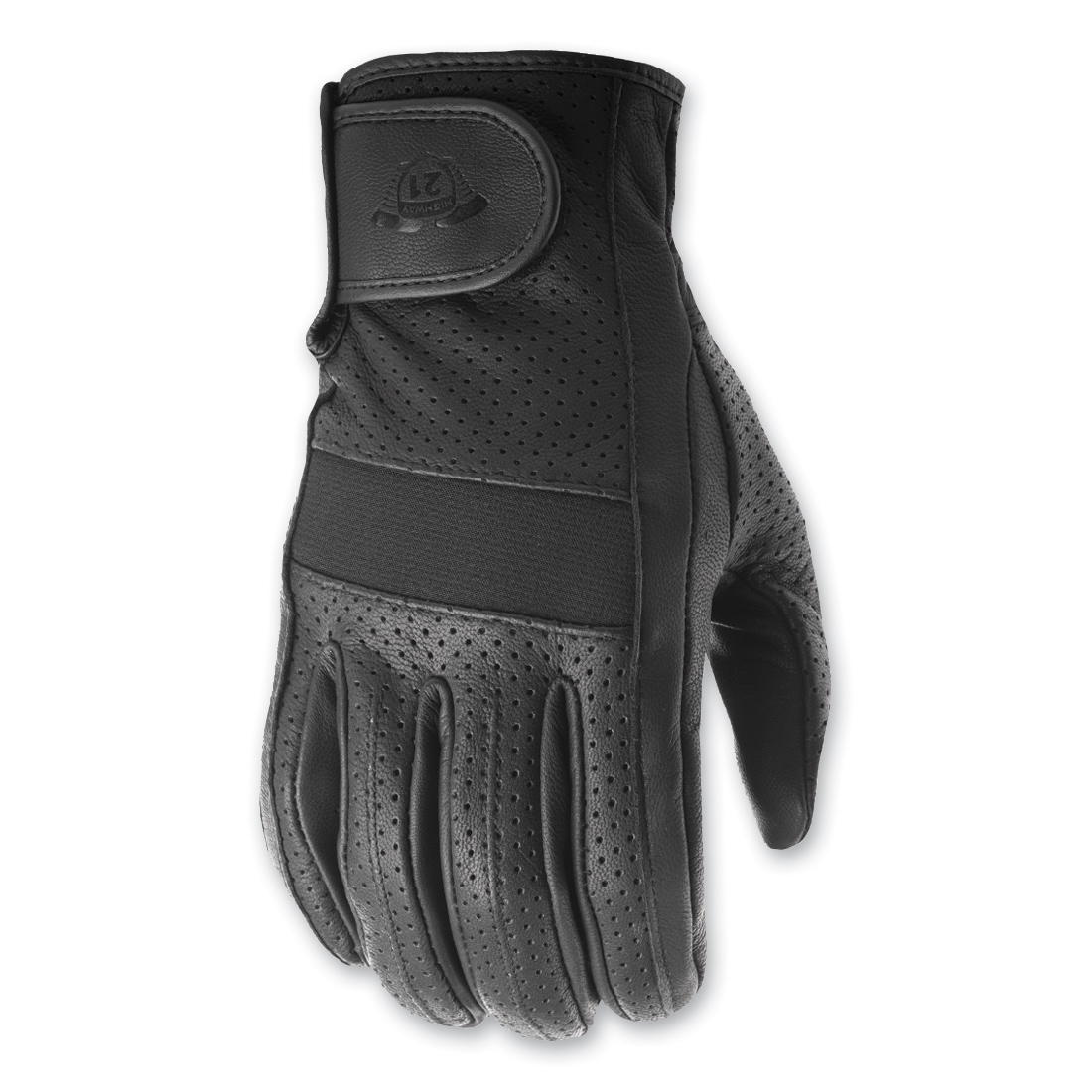 Highway 21 Men's Jab Perforated Touchscreen Black Gloves