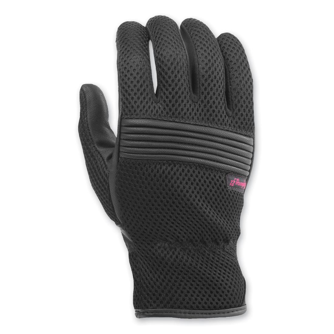 Highway 21 Women's Turbine Black Mesh/Leather Gloves