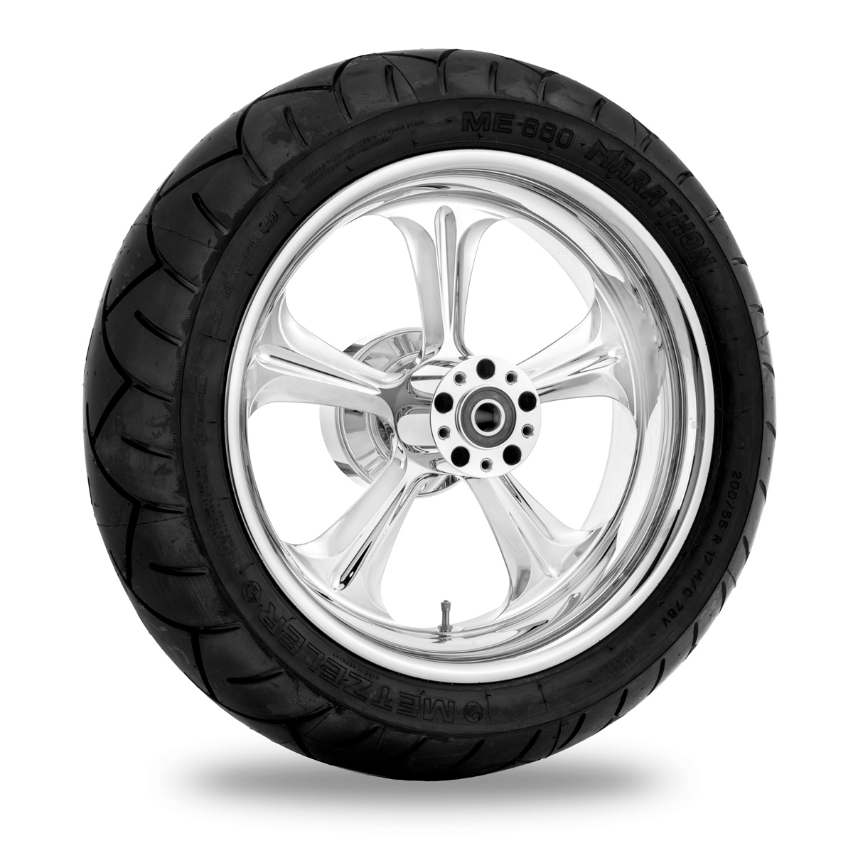 Performance Machine Wrath Chrome Front Wheel Package 21x3.5 ABS