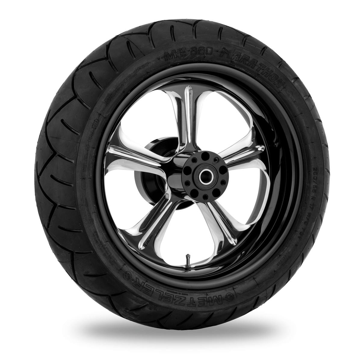 Performance Machine Wrath Platinum Cut Rear Wheel Package 17x6 ABS