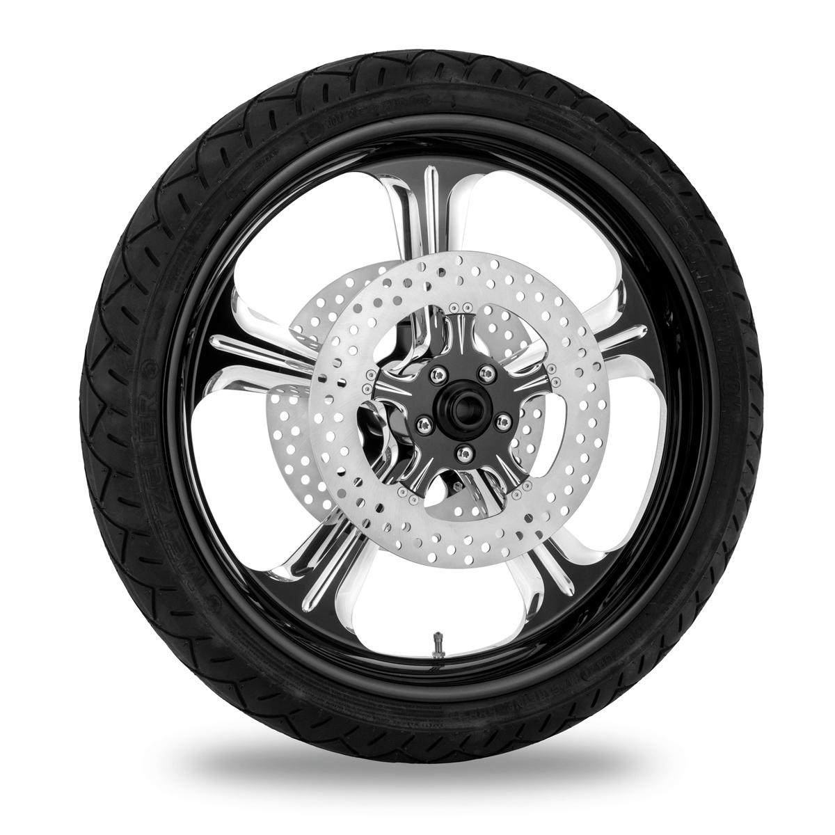 Performance Machine Wrath Platinum Cut Front Wheel Package 21x3.5 Non-ABS