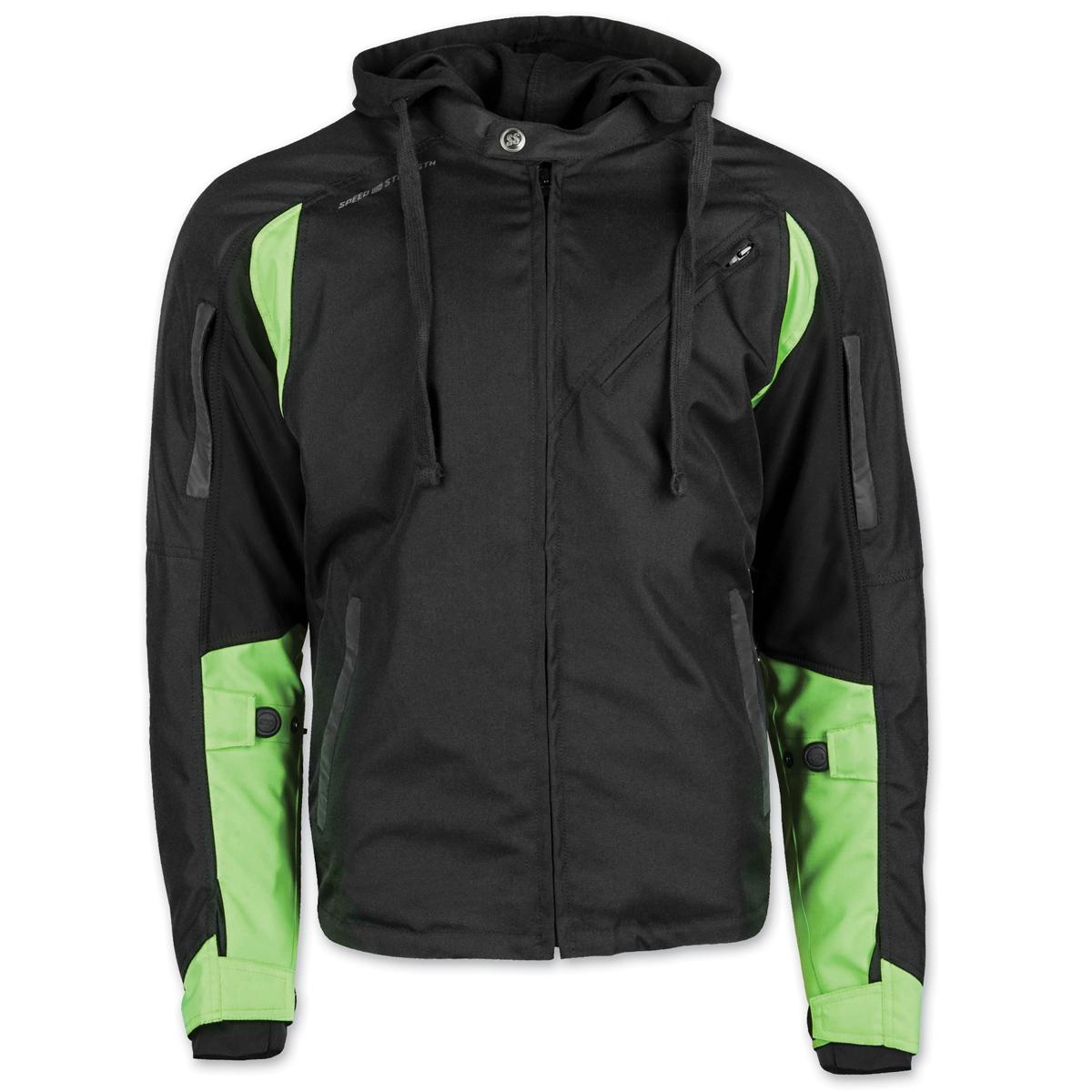 Speed and Strength Men's Fast Forward Hi-Viz/Black Jacket
