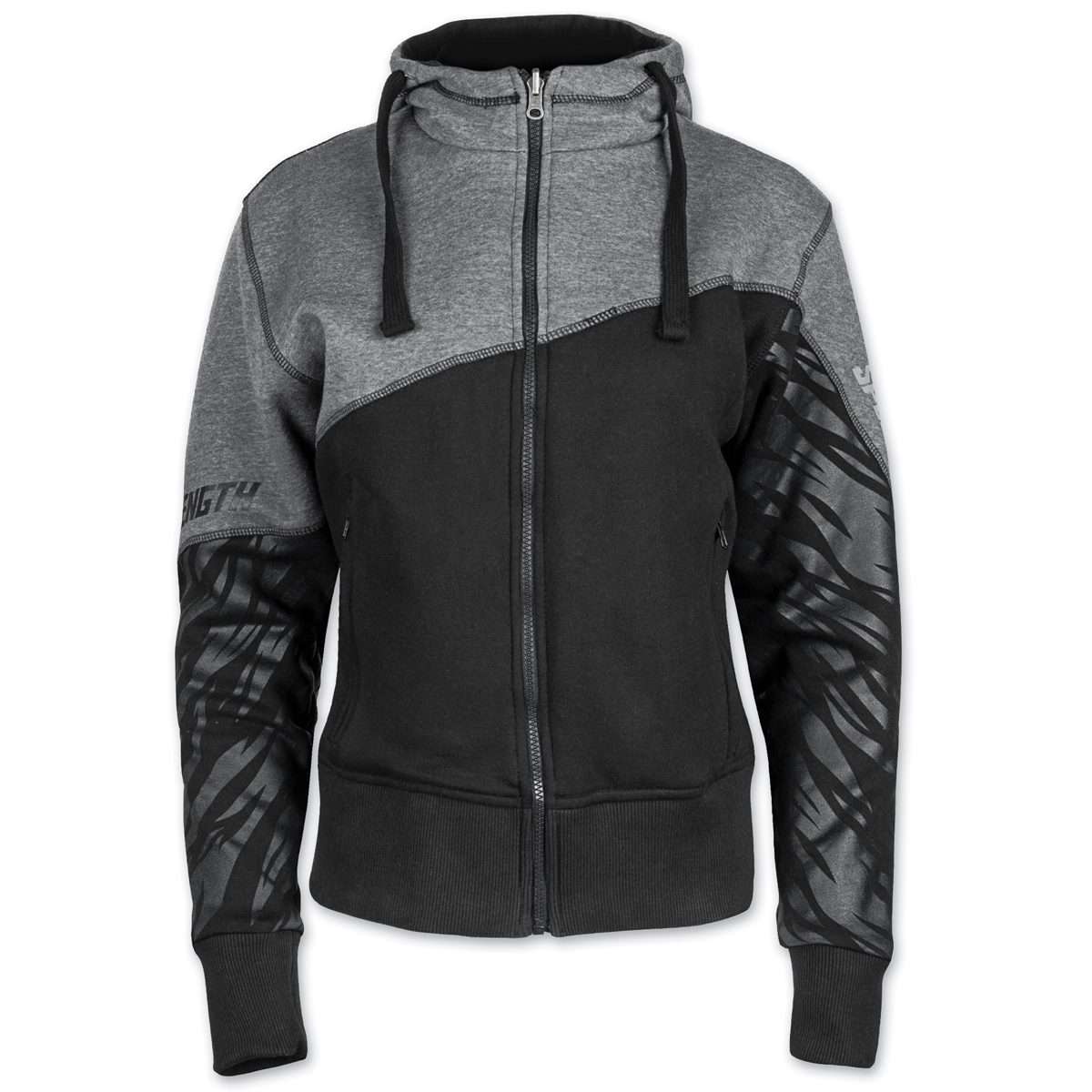 Speed and Strength Women's Cat Out'a Hell Armored Black/Gray Hoodie