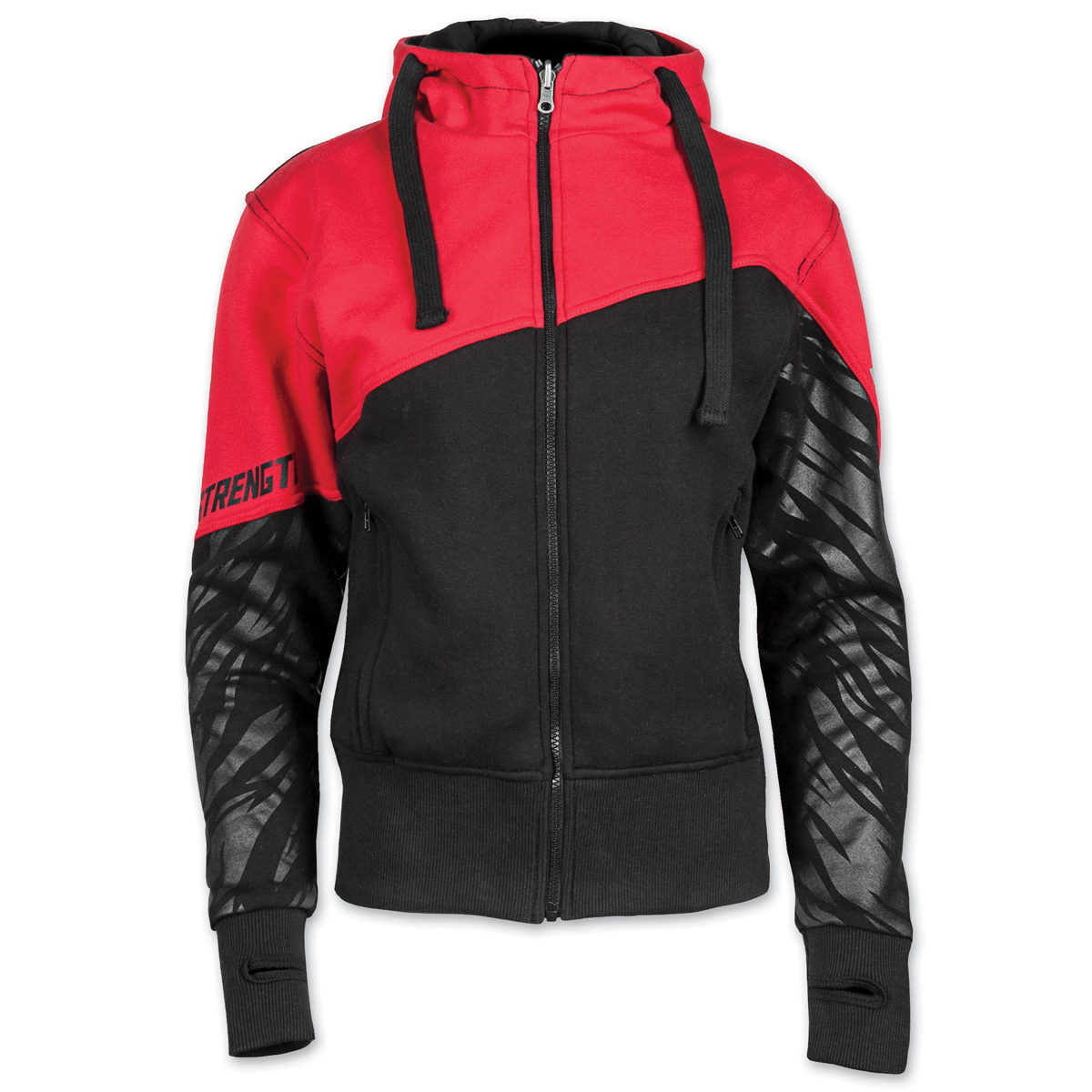 Speed and Strength Women's Cat Out'a Hell Armored Red/Black Hoodie