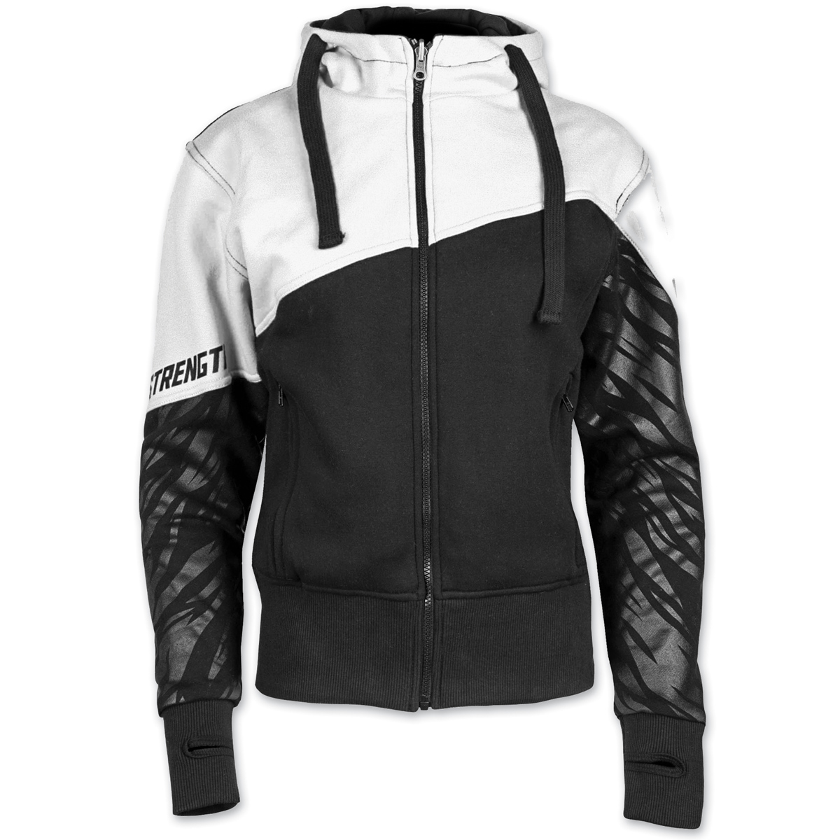 Speed and Strength Women's Cat Out'a Hell Armored White/Black Hoodie