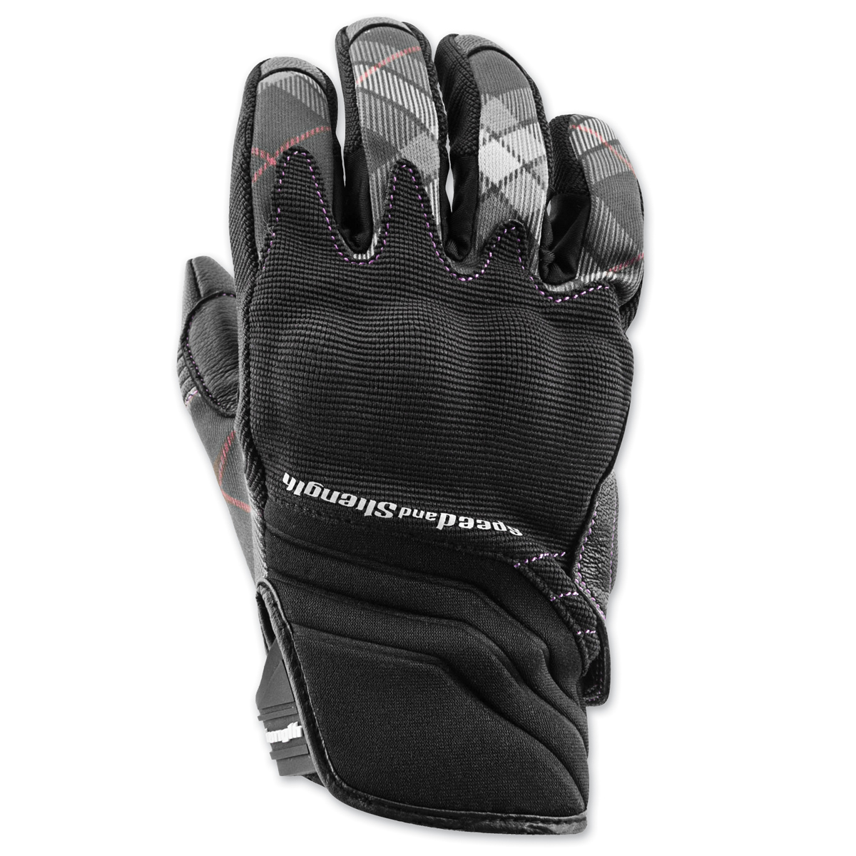 Speed and Strength Women's Cross My Heart Black Leather Gloves