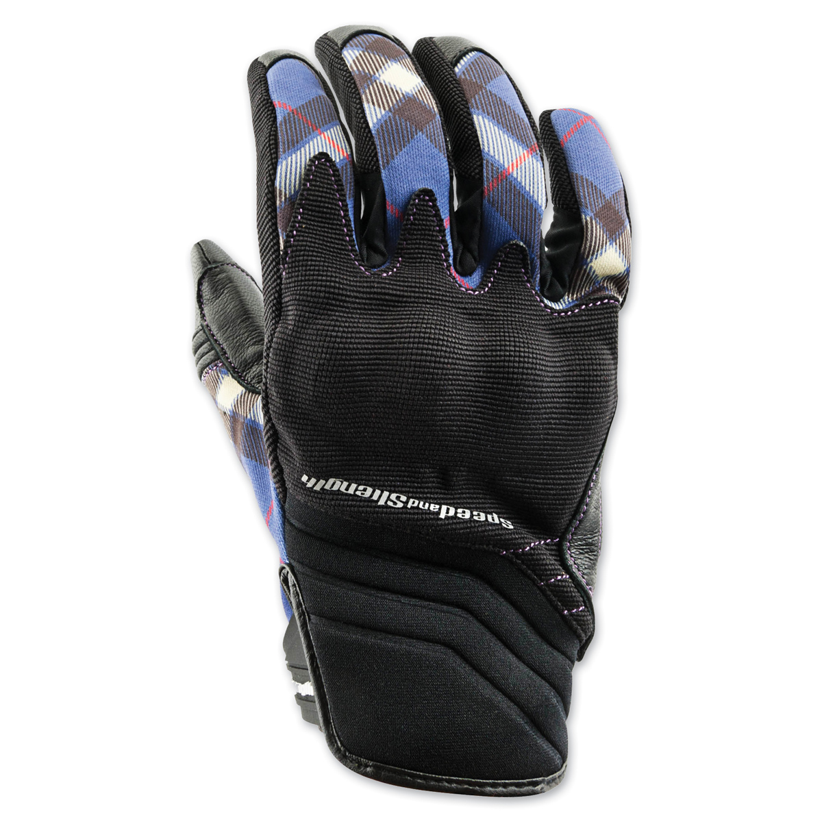 Speed and Strength Women's Cross My Heart Purple Leather Gloves