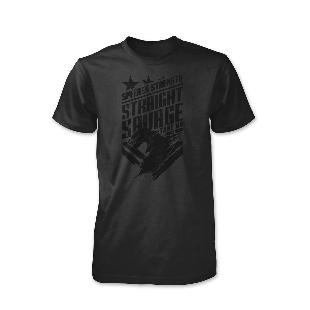 Speed and Strength Men's Straight Savage Charcoal T-Shirt