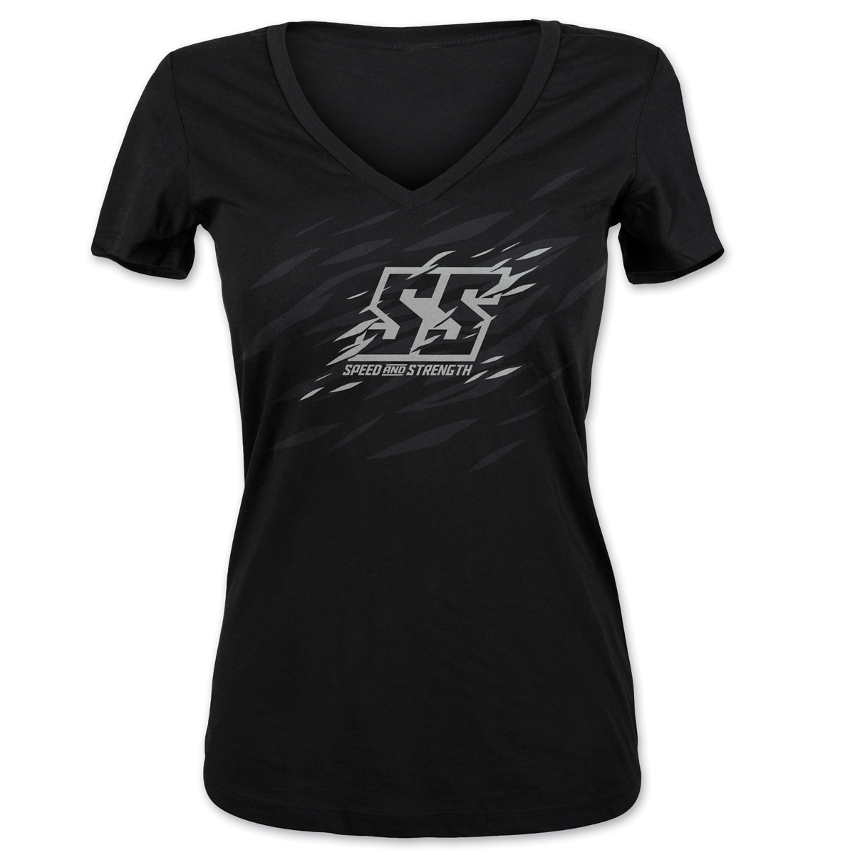 Speed and Strength Women's Cat Out'a Hell Black T-Shirt