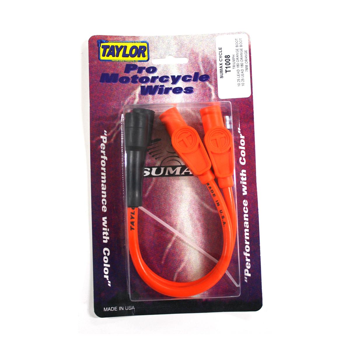 Sumax Orange 7mm Spiro Pro Spark Plug Wire Set
