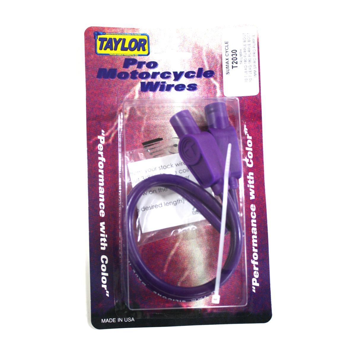 Sumax Purple 7mm Spiro Pro Spark Plug Wire Set
