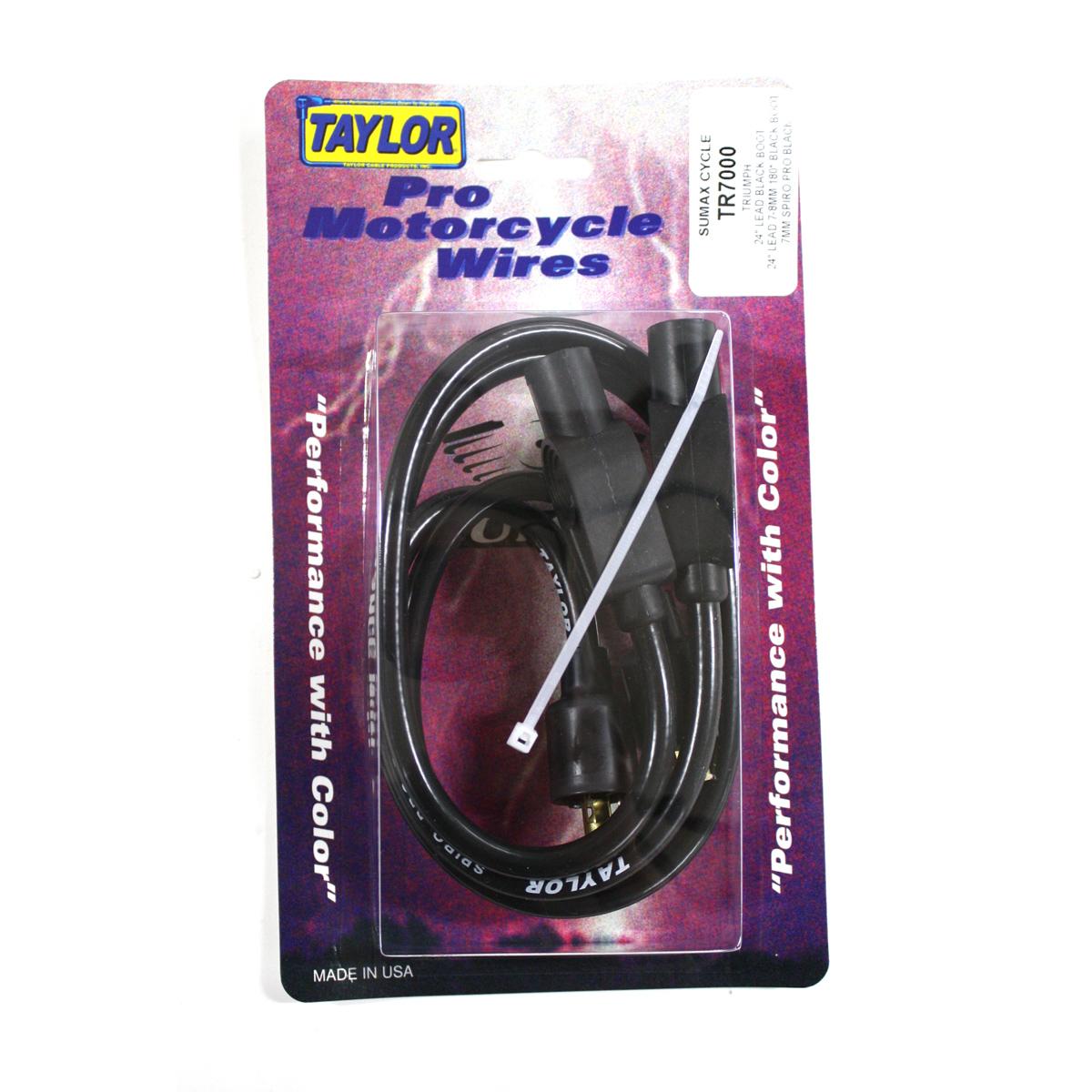 Sumax Black 7mm Spiro Pro Spark Plug Wire Set