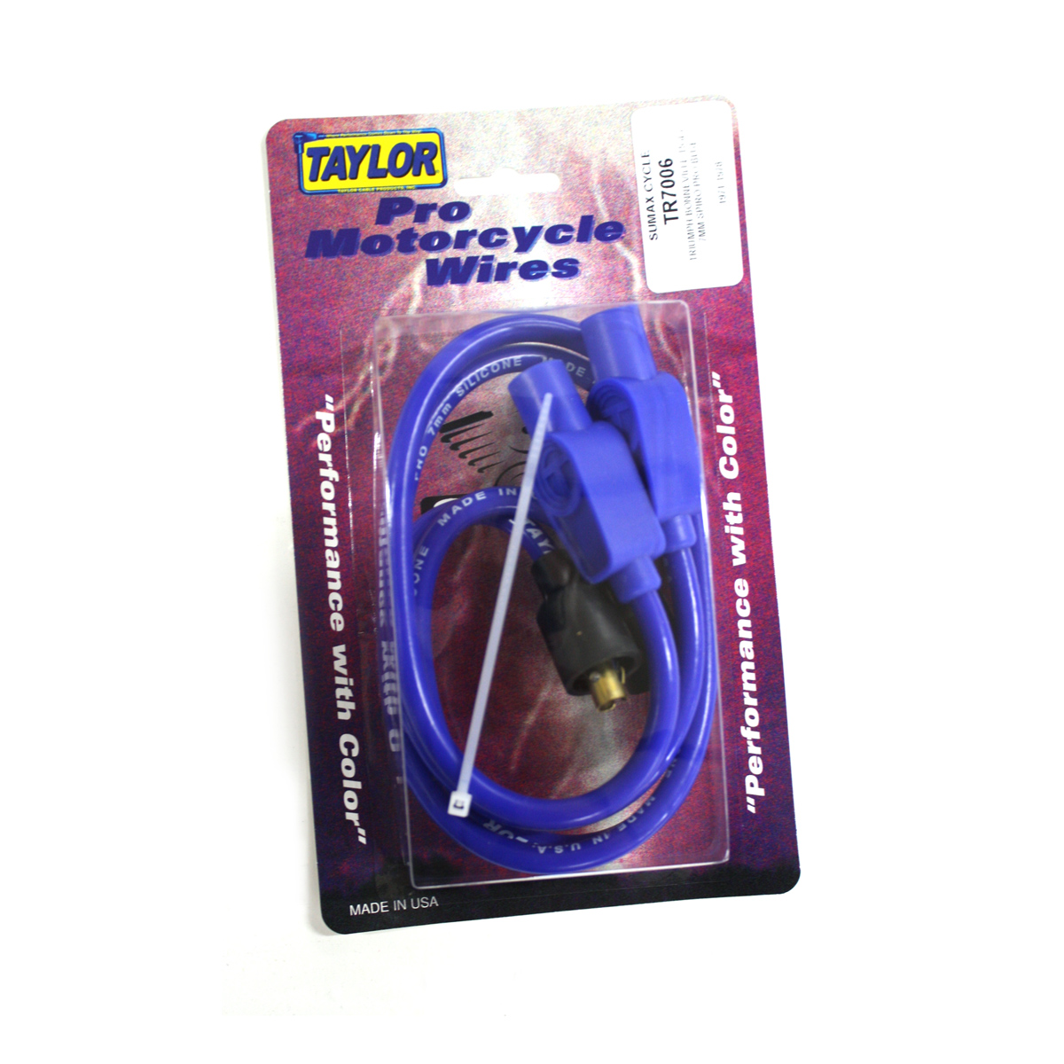 Sumax Blue 7mm Spiro Pro Spark Plug Wire Set