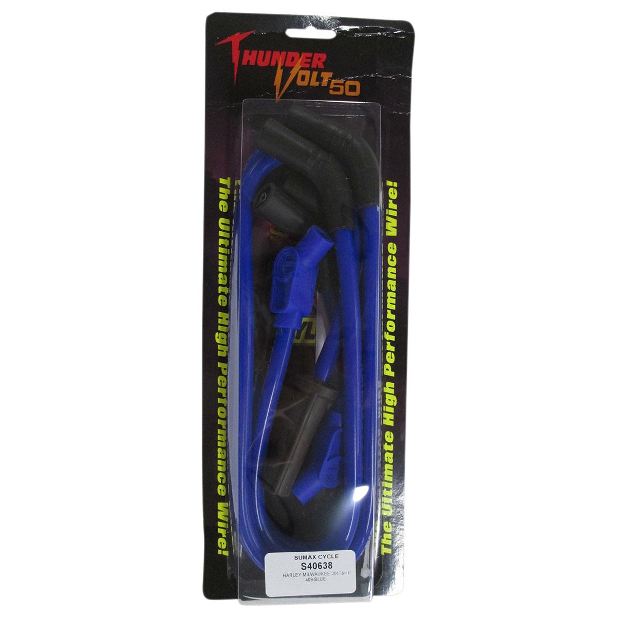 Sumax 409 Pro Race Spark Plug Wires Blue