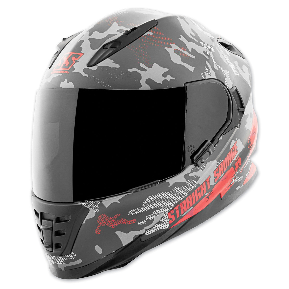 Speed and Strength SS1600 Straight Savage Red/Black Full Face Helmet
