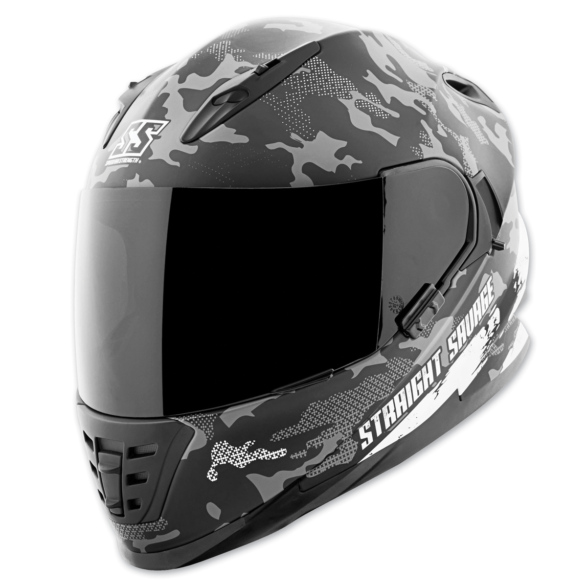 Speed and Strength SS1600 Straight Savage White/Black Full Face Helmet