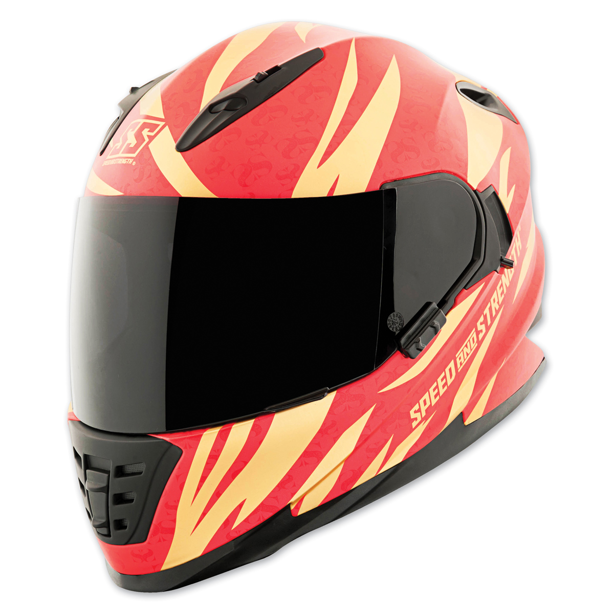 Speed and Strength SS1600 Cat Out'a Hell Gold/Red Full Face Helmet