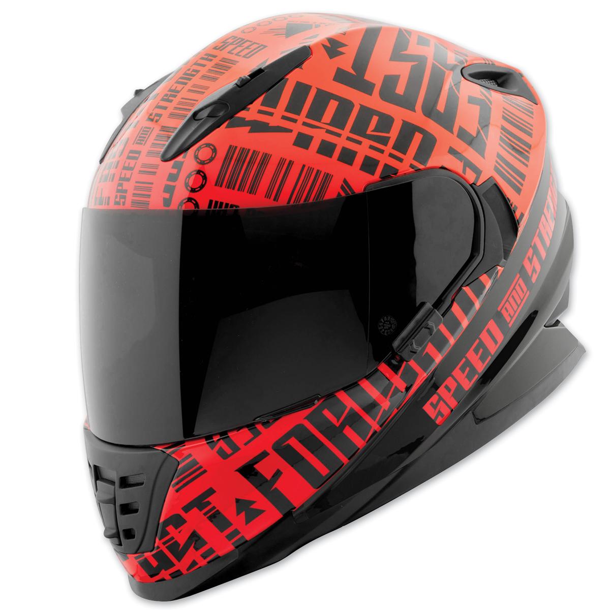 Speed and Strength SS1310 Fast Forward Red/Black Full Face Helmet
