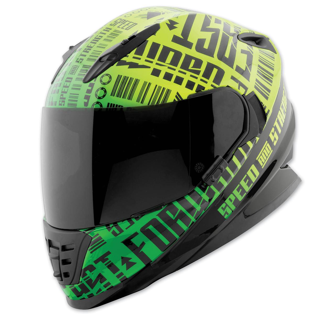 Speed and Strength SS1310 Fast Forward Green/Black Full Face Helmet