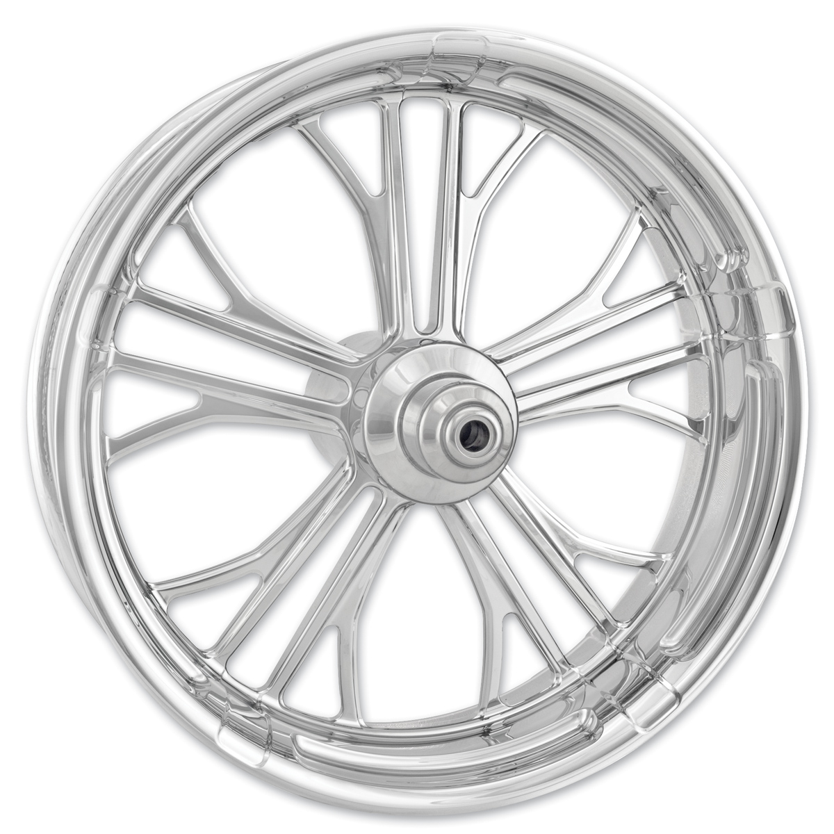 Performance Machine Dixon Chrome Front Wheel 18x3.5 Dual disc