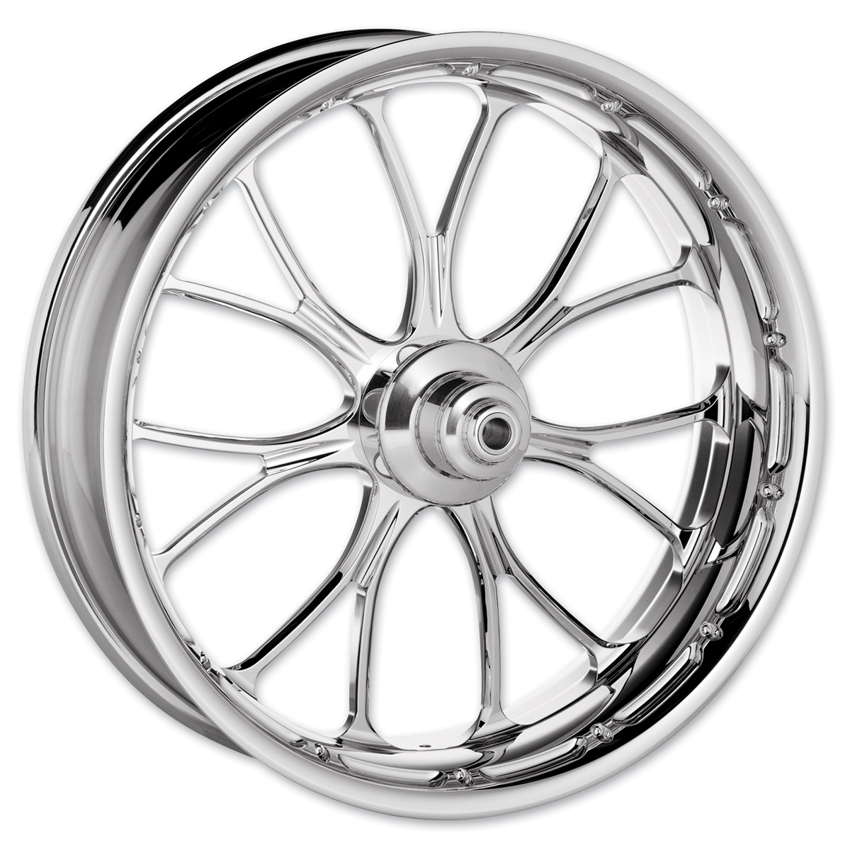 Performance Machine Heathen Chrome Front Wheel 21x3.5 Dual disc