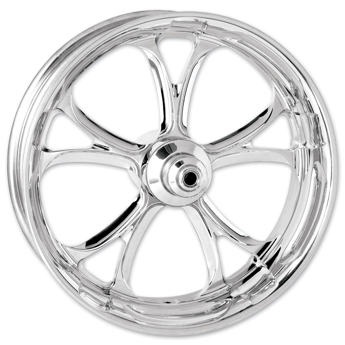 Performance Machine Luxe Chrome Front Wheel, 21