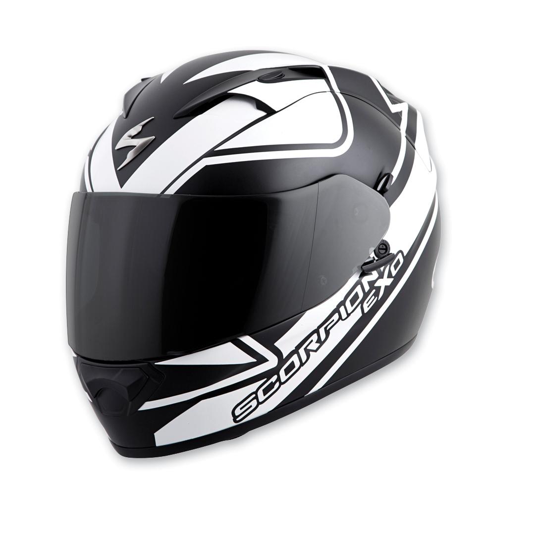 69002c2b Scorpion EXO EXO-T1200 Freeway White Full Face Helmet - T12-3055 ...