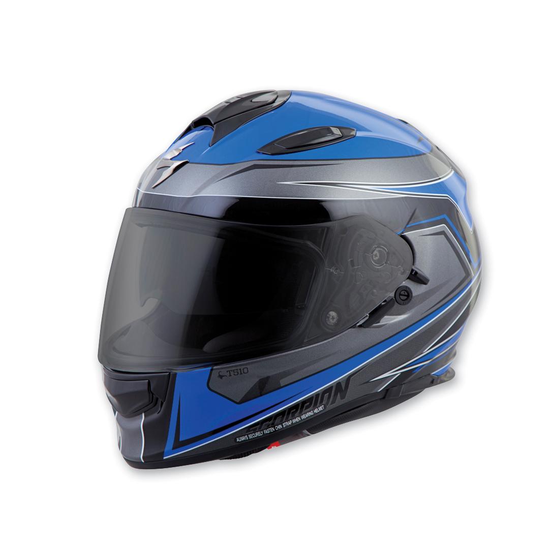 Scorpion EXO EXO-T510 Tarmac Blue Full Face Helmet