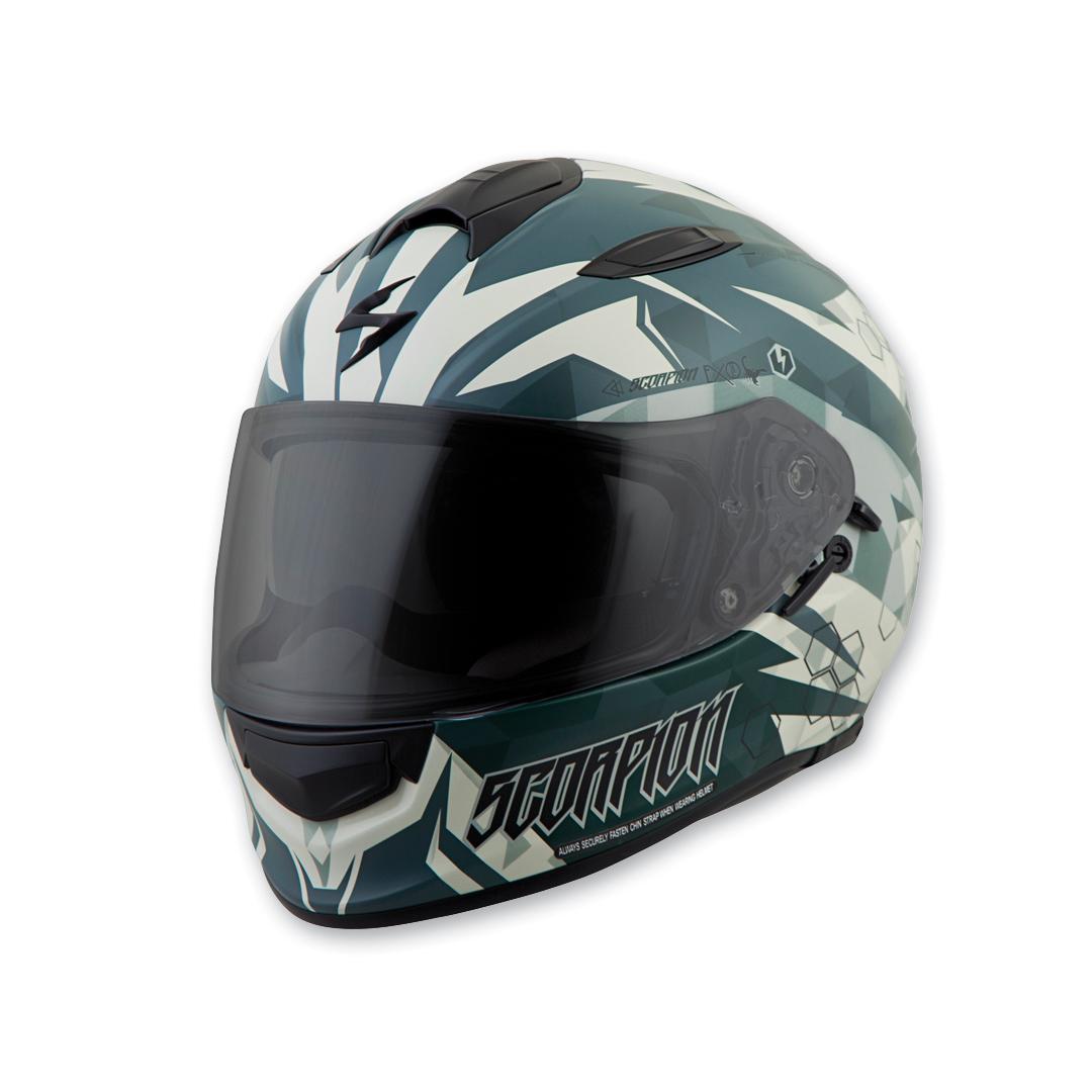 Scorpion EXO EXO-T510 Cipher Green Full Face Helmet