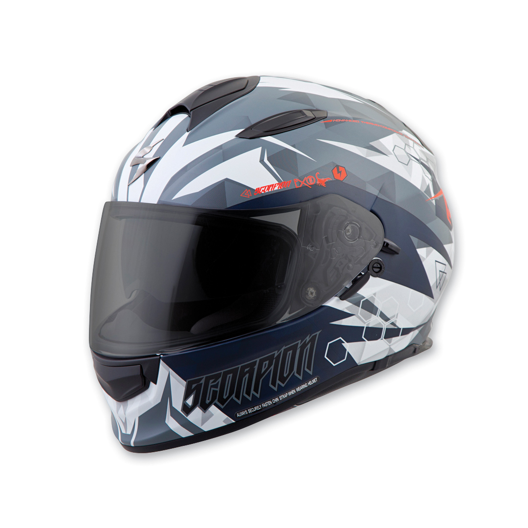 Scorpion EXO EXO-T510 Cipher White Full Face Helmet