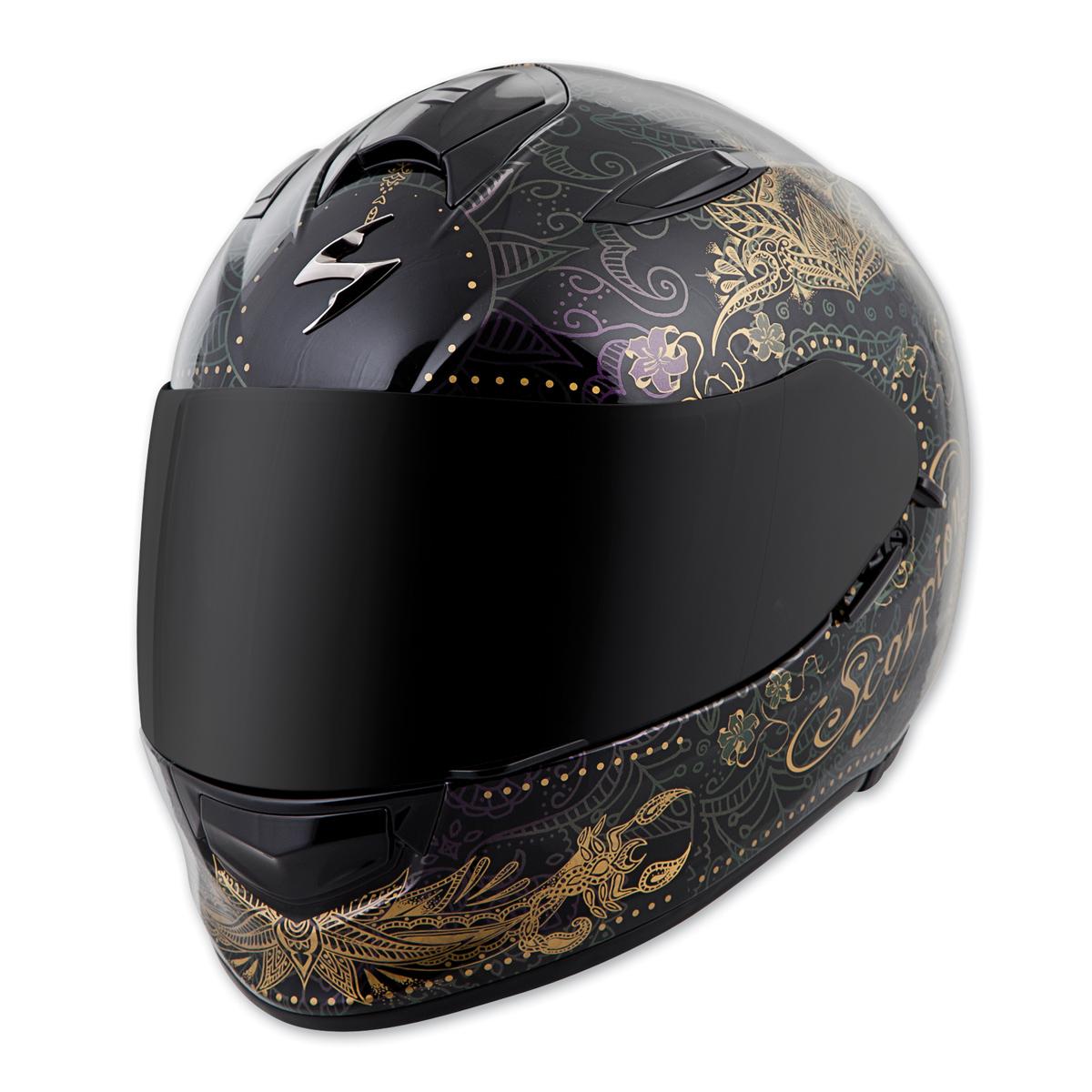 Scorpion EXO EXO-T510 Azalea Black/Gold Full Face Helmet