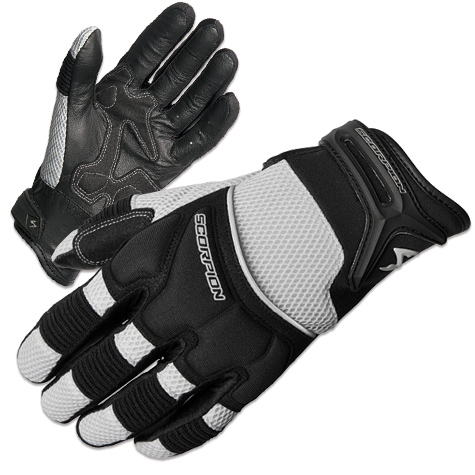 Scorpion EXO Men's Cool Hand II Silver Mesh Gloves