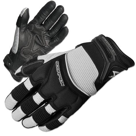 Scorpion EXO Men's Cool Hand II Silver Mesh Gloves