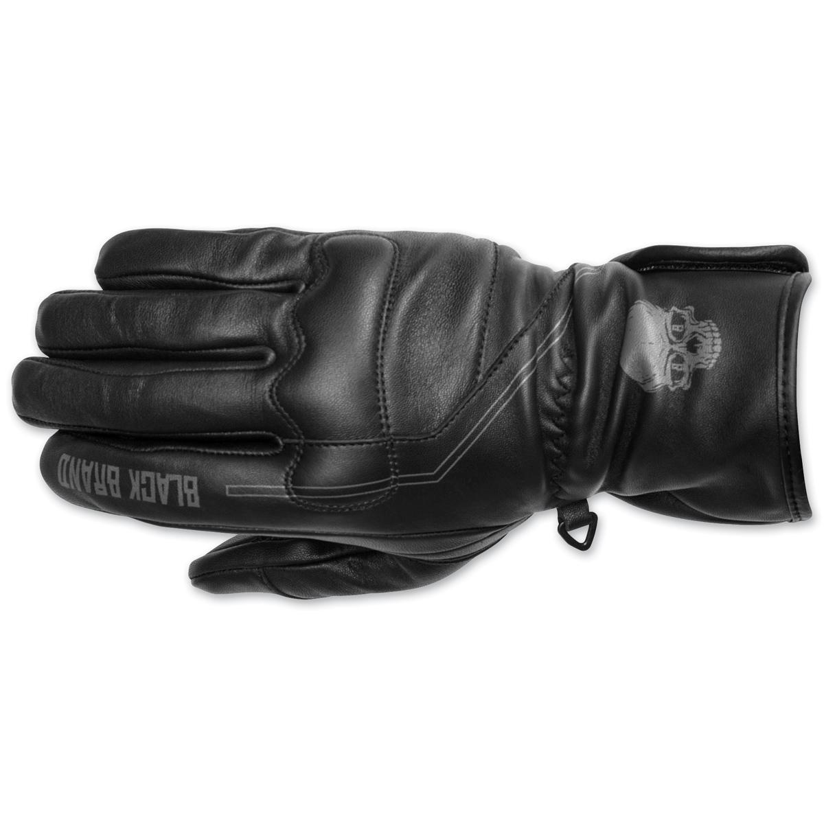 Black Brand Men's Black Pinstripe Gauntlet Gloves