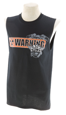 J&P Cycles Warning Loud Pipes Sleeveless T-Shirt