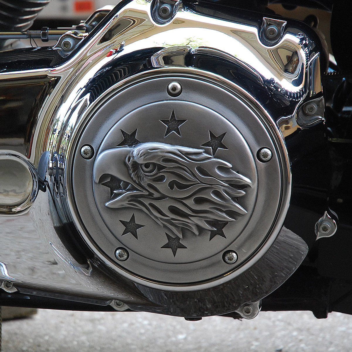 Chrome Dome Liberty Eagle Chrome Derby Cover