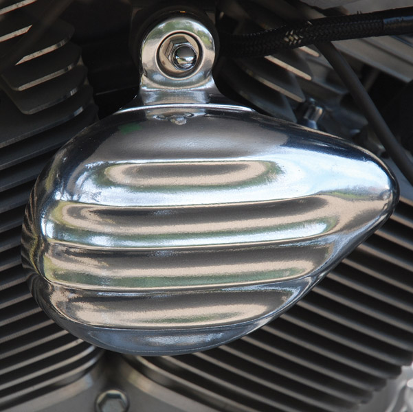 Chrome Dome Retro Horn Cover in Aluminum