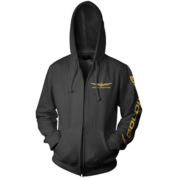 Honda Gold Wing Classic Logo Black Full Zip Hoodie