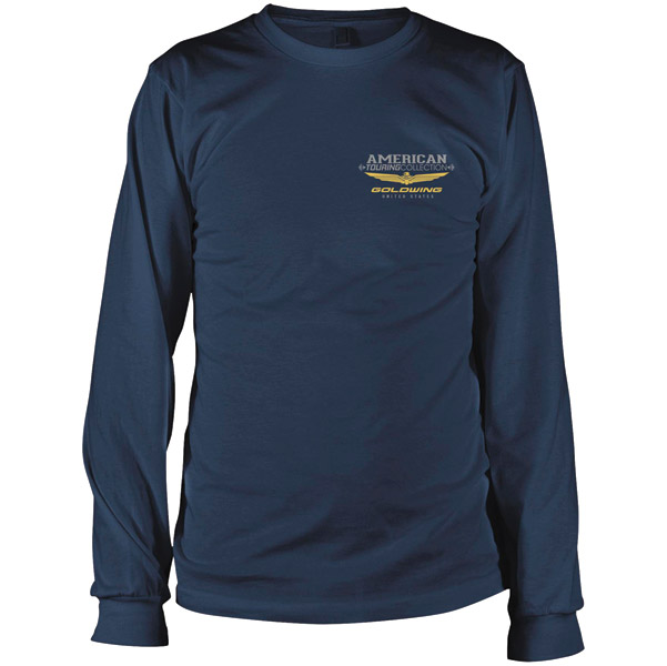 Honda Gold Wing Men's Touring Collection Navy Long Sleeve T-Shirt